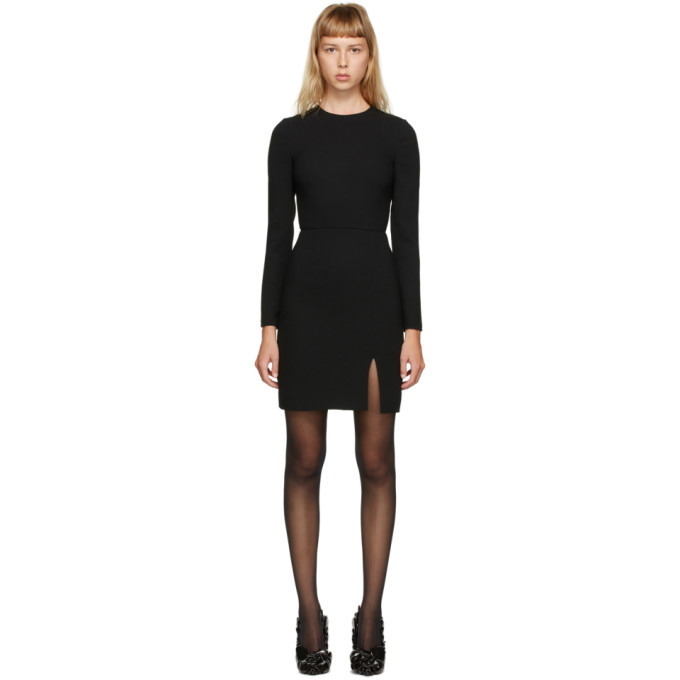 Photo: Valentino Black Wool Crepe Dress