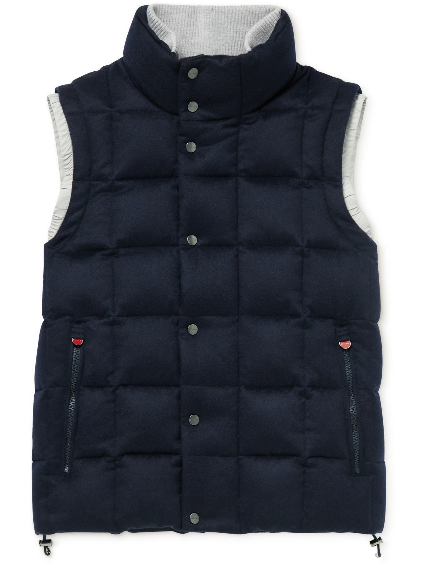 Photo: Kiton - Slim-Fit Quilted Cashmere Down Gilet - Blue