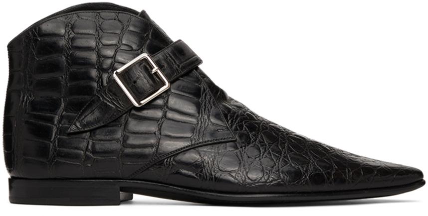 Photo: Saint Laurent Croc Dixon 15 Boots