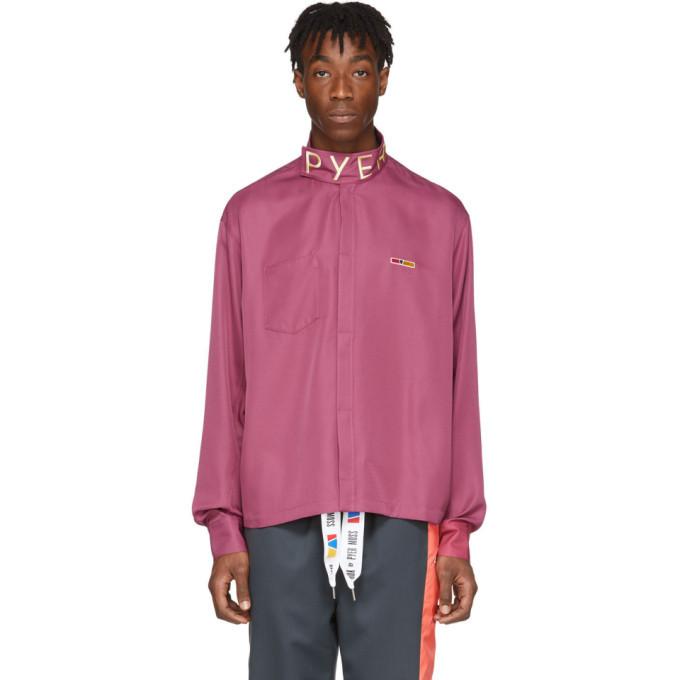 Photo: Reebok by Pyer Moss Purple Collection 3 Poplin Button Shirt