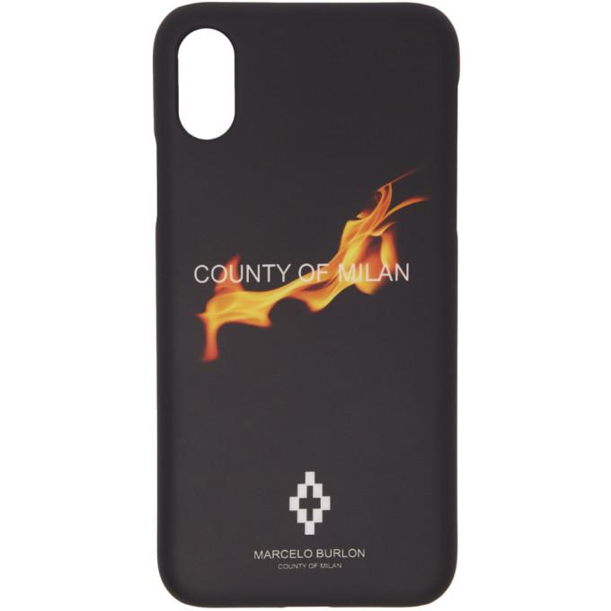 Photo: Marcelo Burlon County of Milan Black Flame iPhone X Case