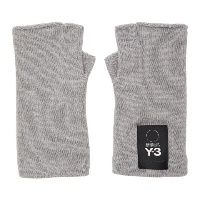 Photo: Y-3 Grey Logo Gloves