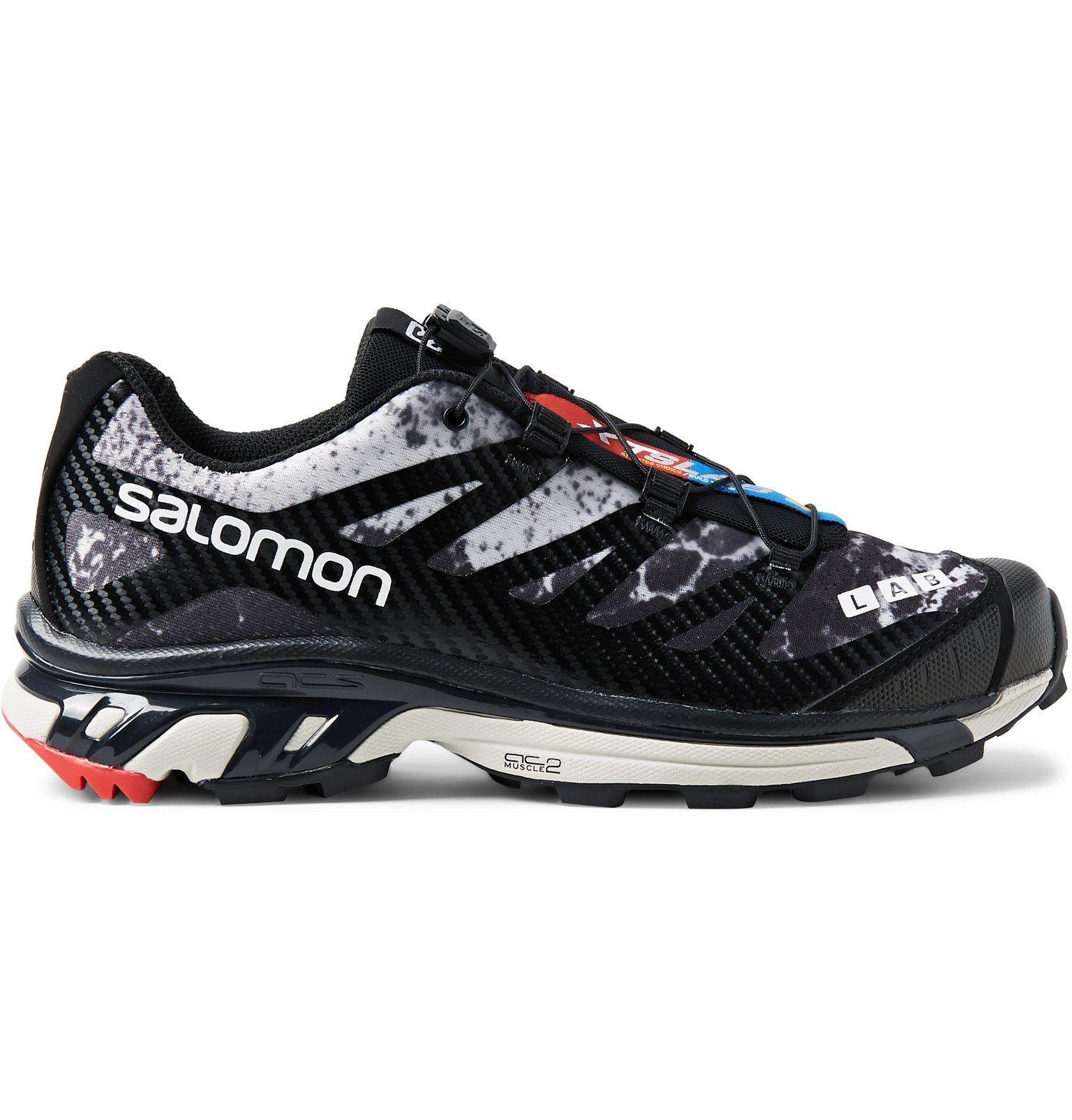 Photo: Salomon - XT-4 Advanced Rubber-Trimmed Coated Mesh Running Sneakers - Black