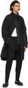 Sacai Black Cotton Oxford Coat