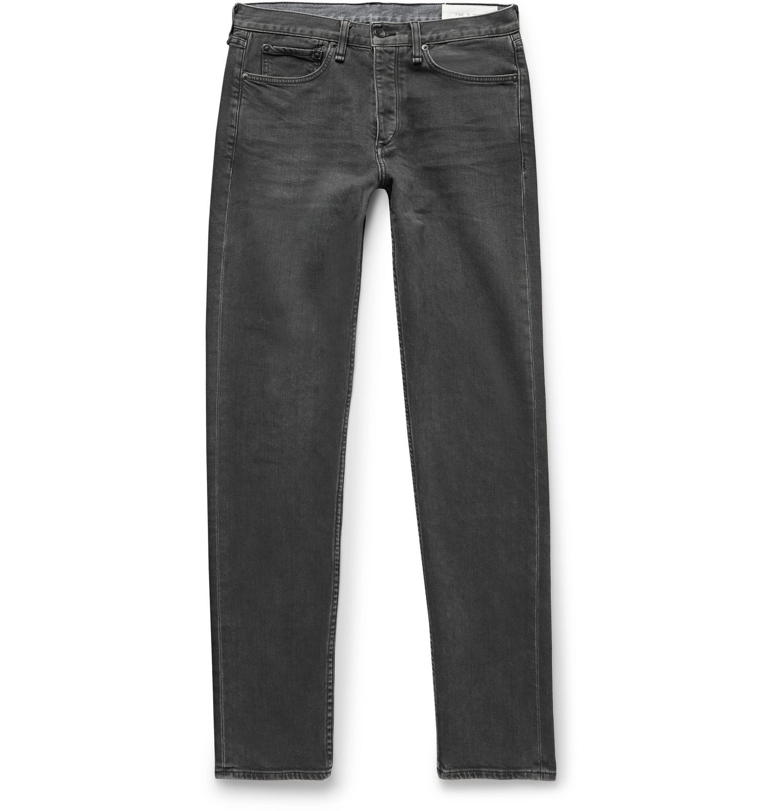 Photo: rag & bone - Fit 2 Slim-Fit Organic Stretch-Denim Jeans - Gray