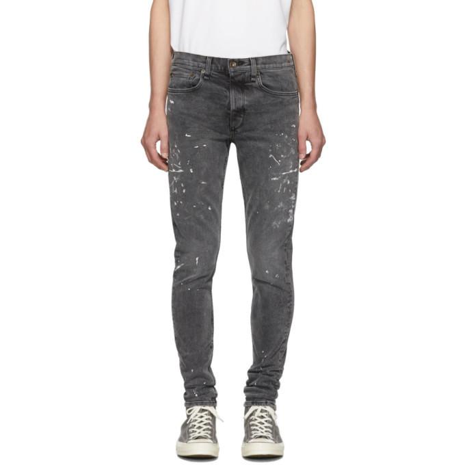 Photo: rag and bone Black Paint Fit 1 Jeans