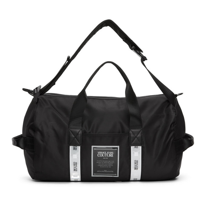 Photo: Versace Jeans Couture Black Reflector Tape Gym Bag