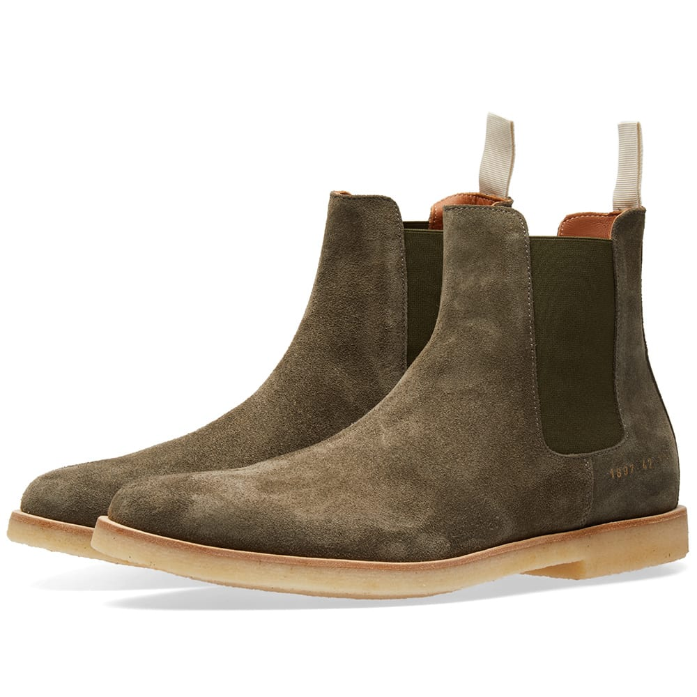 Photo: Common Projects Chelsea Boot Green