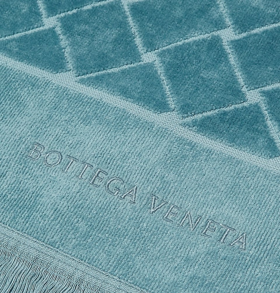 Bottega Veneta - Intrecciato Cotton-Terry Beach Towel - Men - Blue