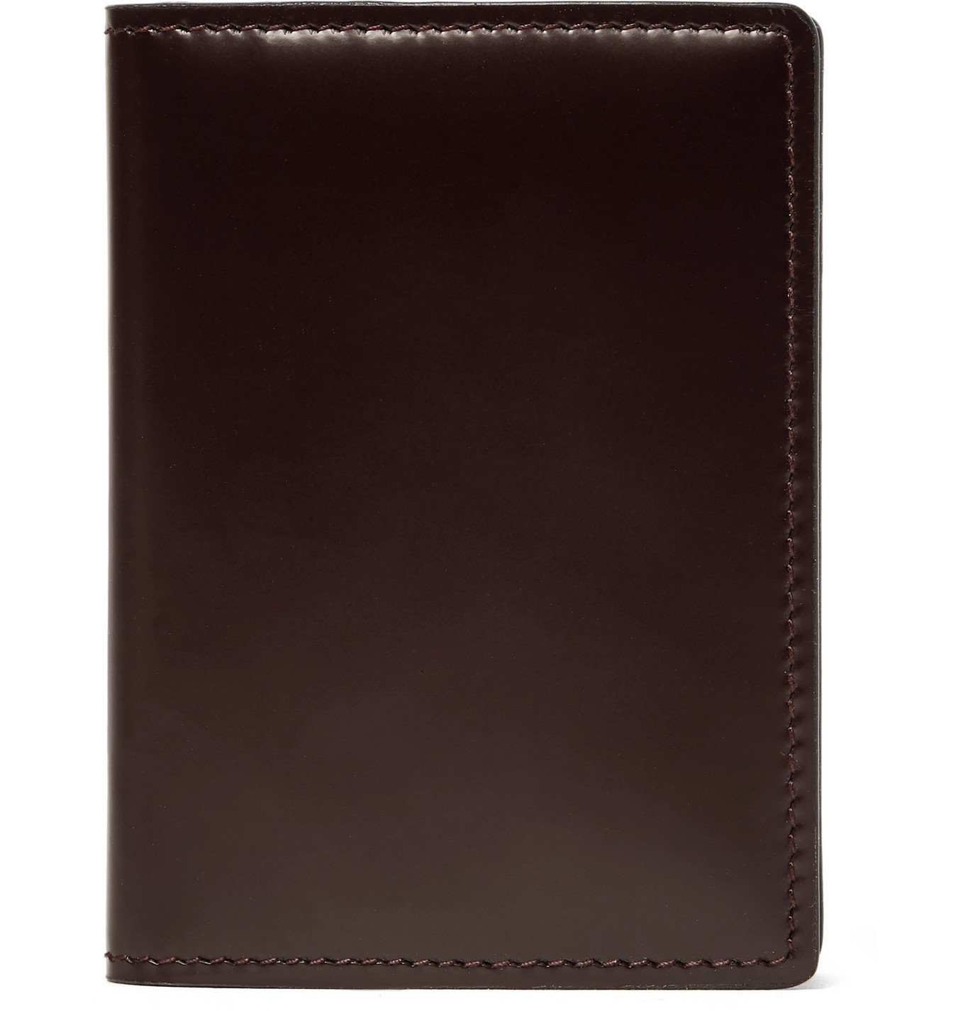 Photo: Common Projects - Logo-Print Leather Bifold Wallet - Burgundy