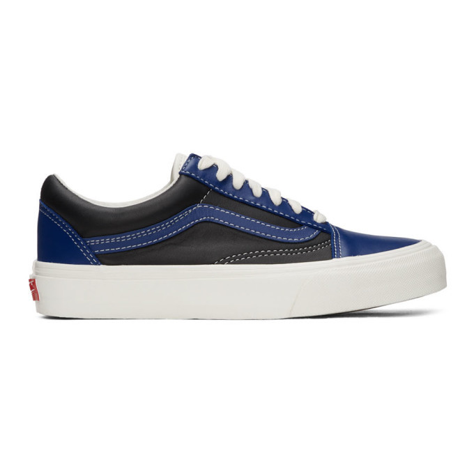 Photo: Vans Blue and Black OG Old Skool VLT LX Sneakers