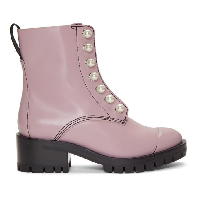 3.1 Phillip Lim Pink Pearl Lug Hayett Boots