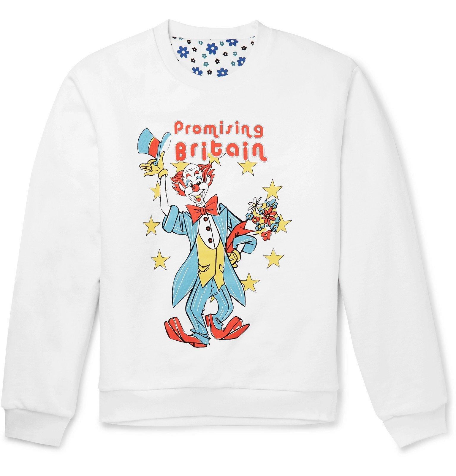 Photo: Martine Rose - Reversible Printed Cotton-Jersey Sweatshirt - White