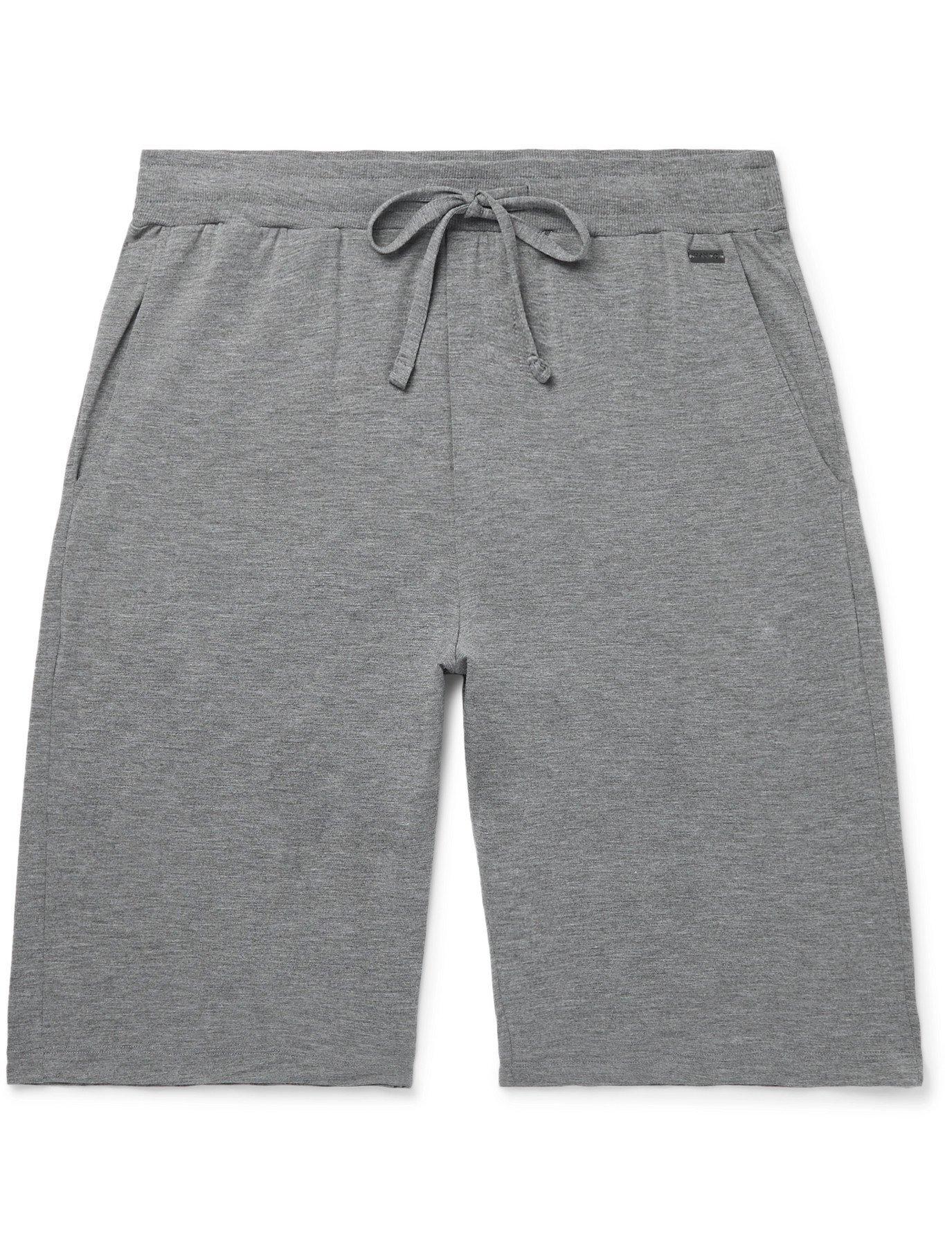 Photo: HANRO - Mélange Jersey Drawstring Shorts - Gray - M
