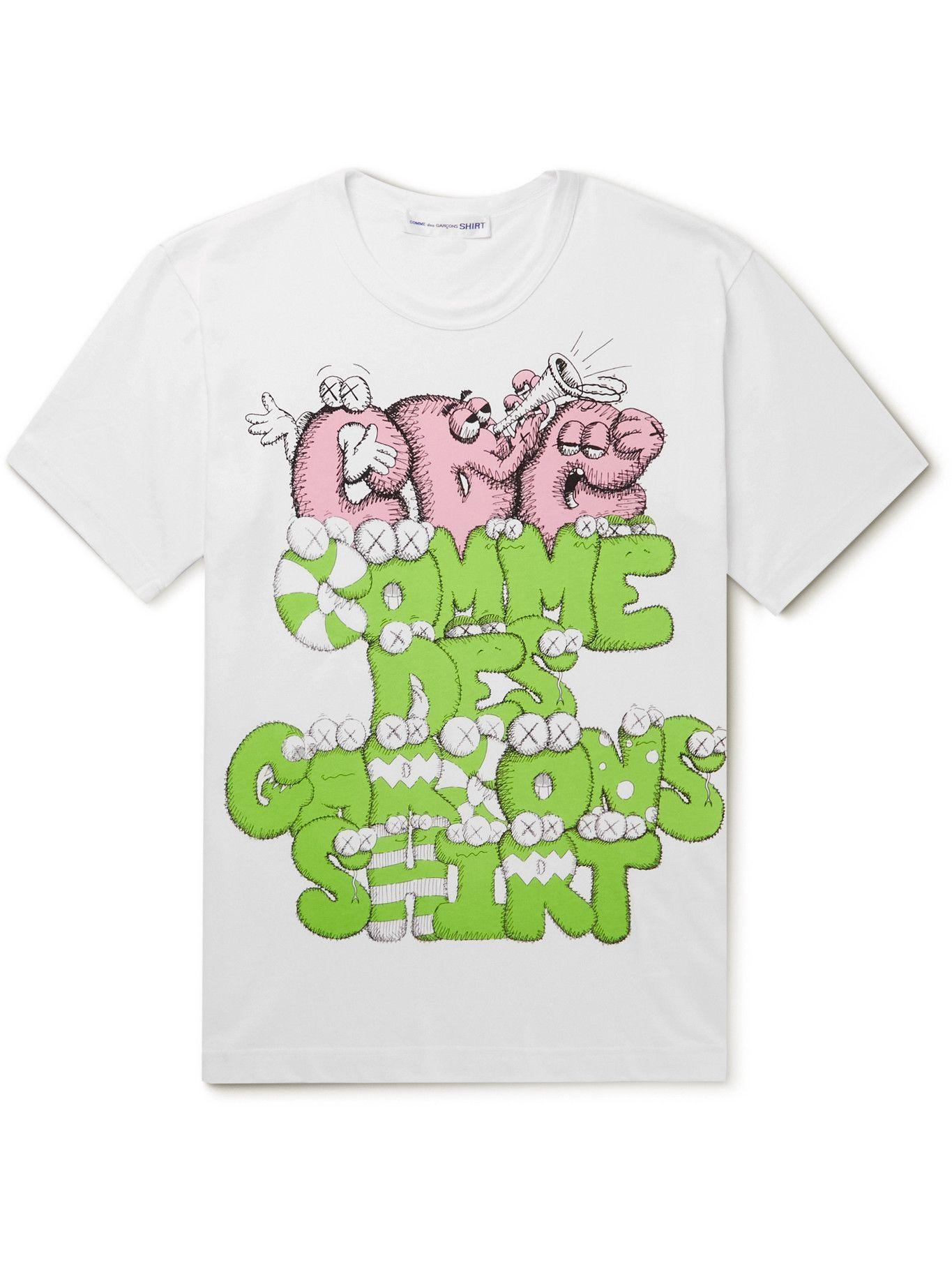 Photo: Comme des Garçons SHIRT - KAWS Printed Cotton-Jersey T-Shirt - White