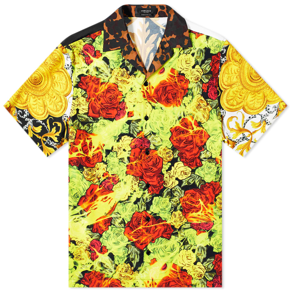 Photo: Versace All Over Print Vacation Shirt