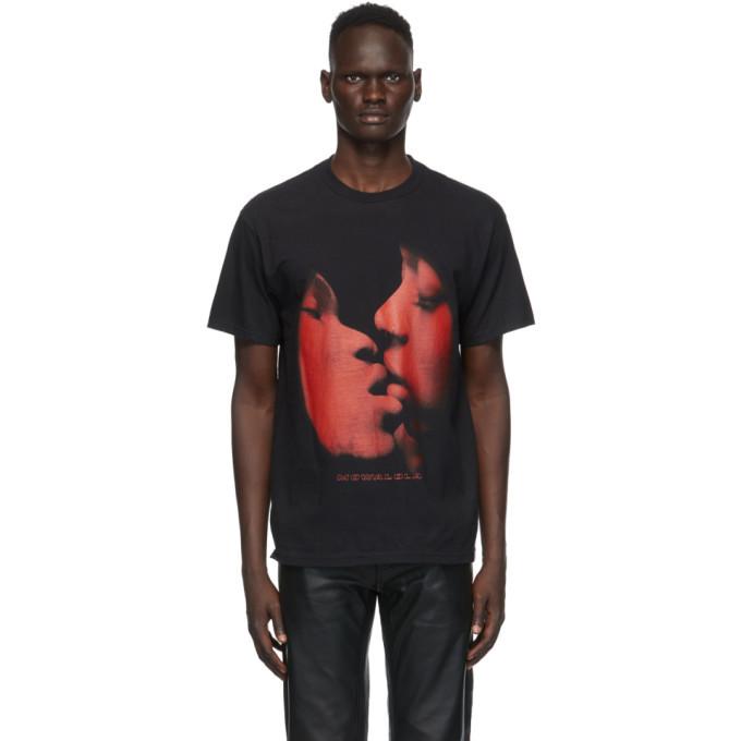 Photo: Mowalola Black Kiss Me T-Shirt