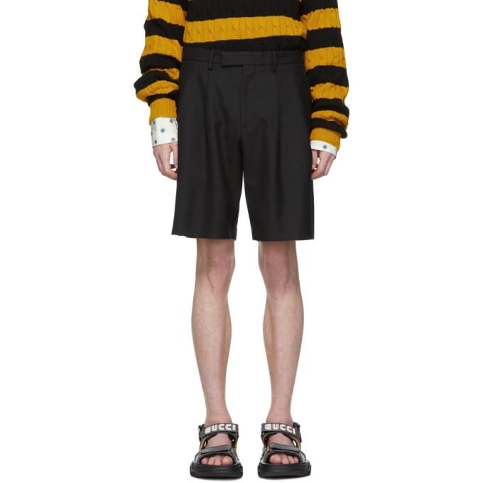 Photo: Gucci Black Herringbone Shorts