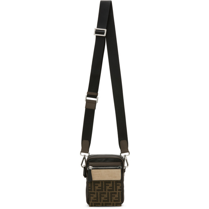 Photo: Fendi Black and Brown Forever Fendi Messenger Bag