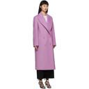 Stella McCartney Purple Wool Catalina Double Breasted Coat