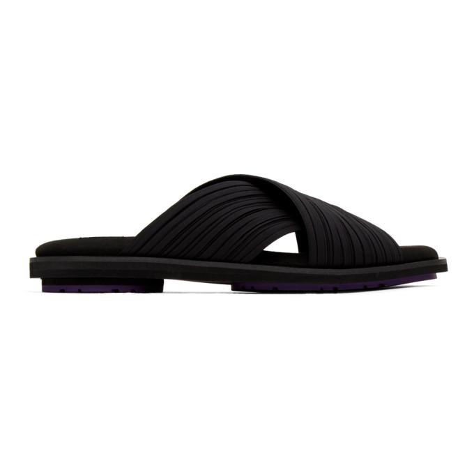 Photo: Pleats Please Issey Miyake Black Pleats Sandals