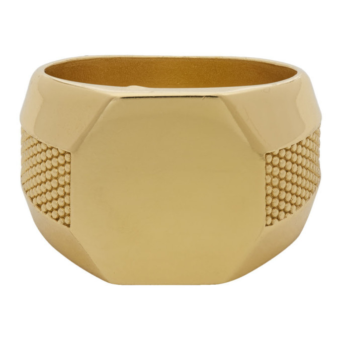 Photo: Emanuele Bicocchi Gold Plain Signet Ring