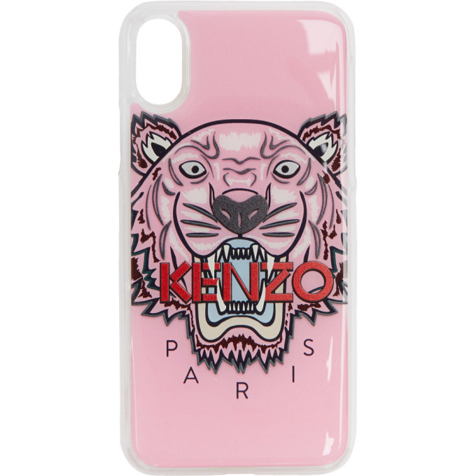 Photo: Kenzo Pink 3D Tiger iPhone X Case
