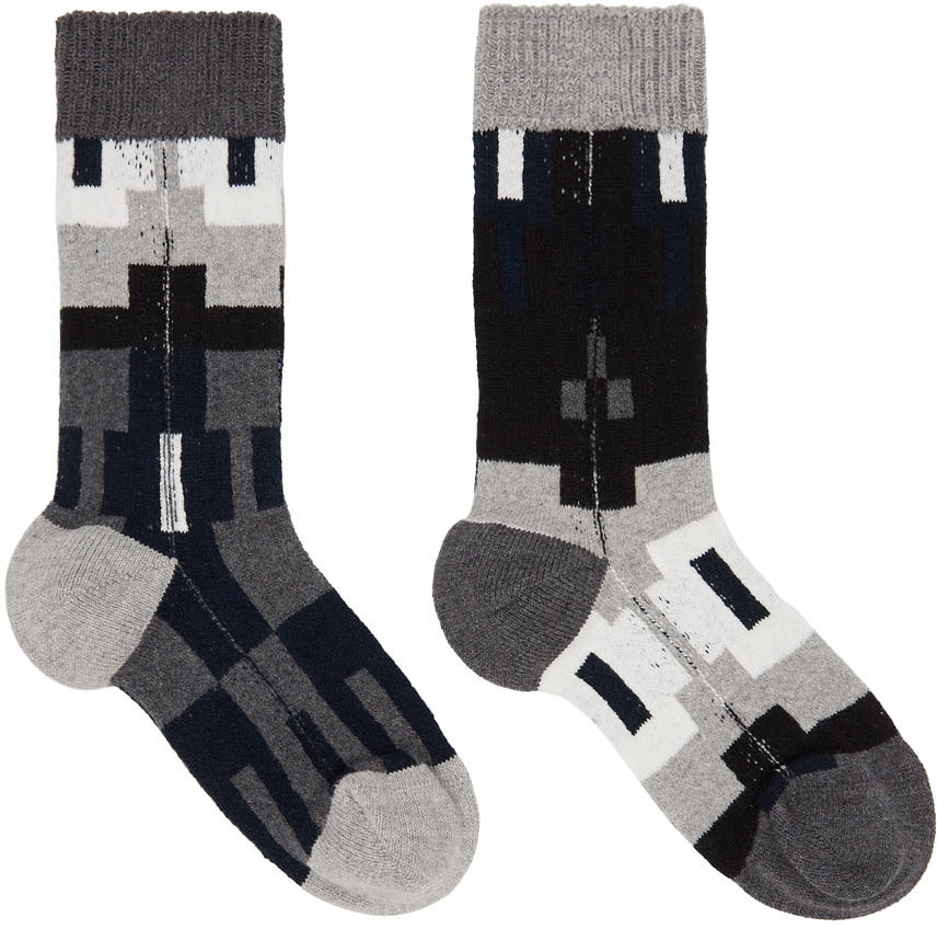 Sacai Black & Grey Nordic Socks