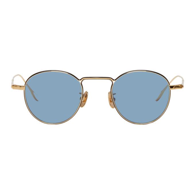 Photo: Yuichi Toyama Gold and Blue U-066 Marcel Sunglasses