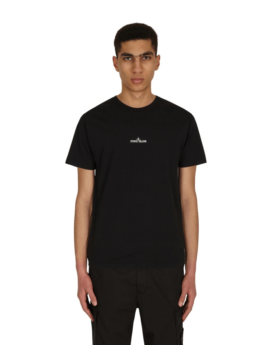 Stone Island Big Logo T Shirt Black