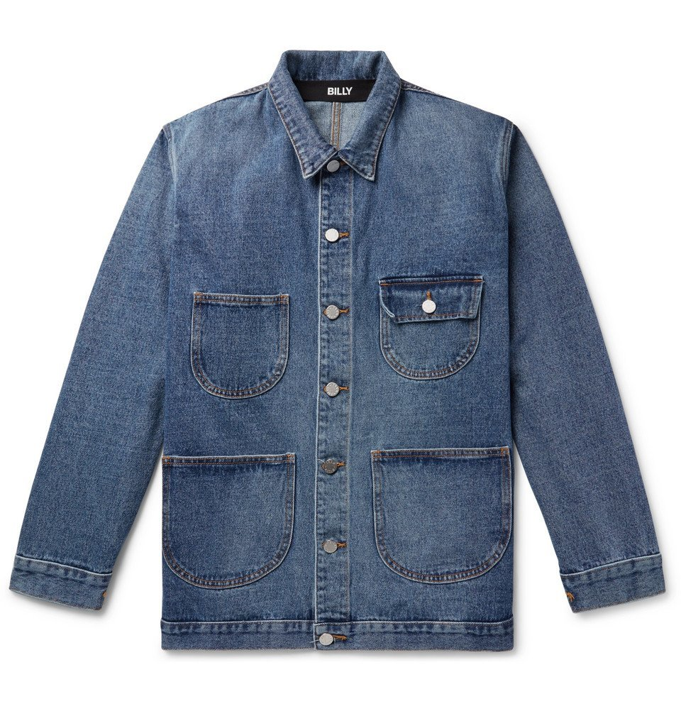 Photo: BILLY - Denim Chore Jacket - Mid denim