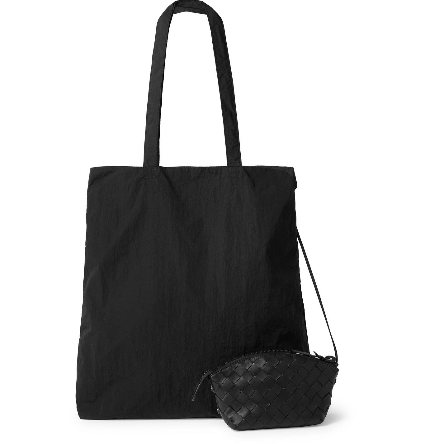 Photo: Bottega Veneta - Intrecciato Leather Pouch - Black