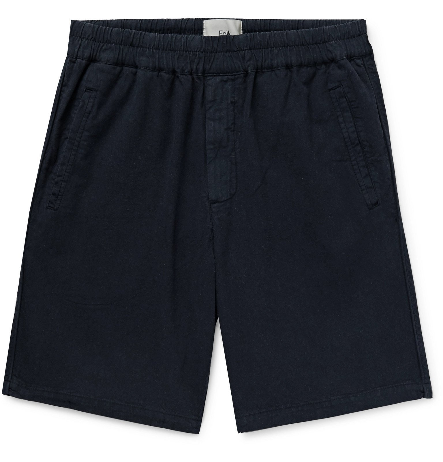 Photo: Folk - Linen and Cotton-Blend Shorts - Blue