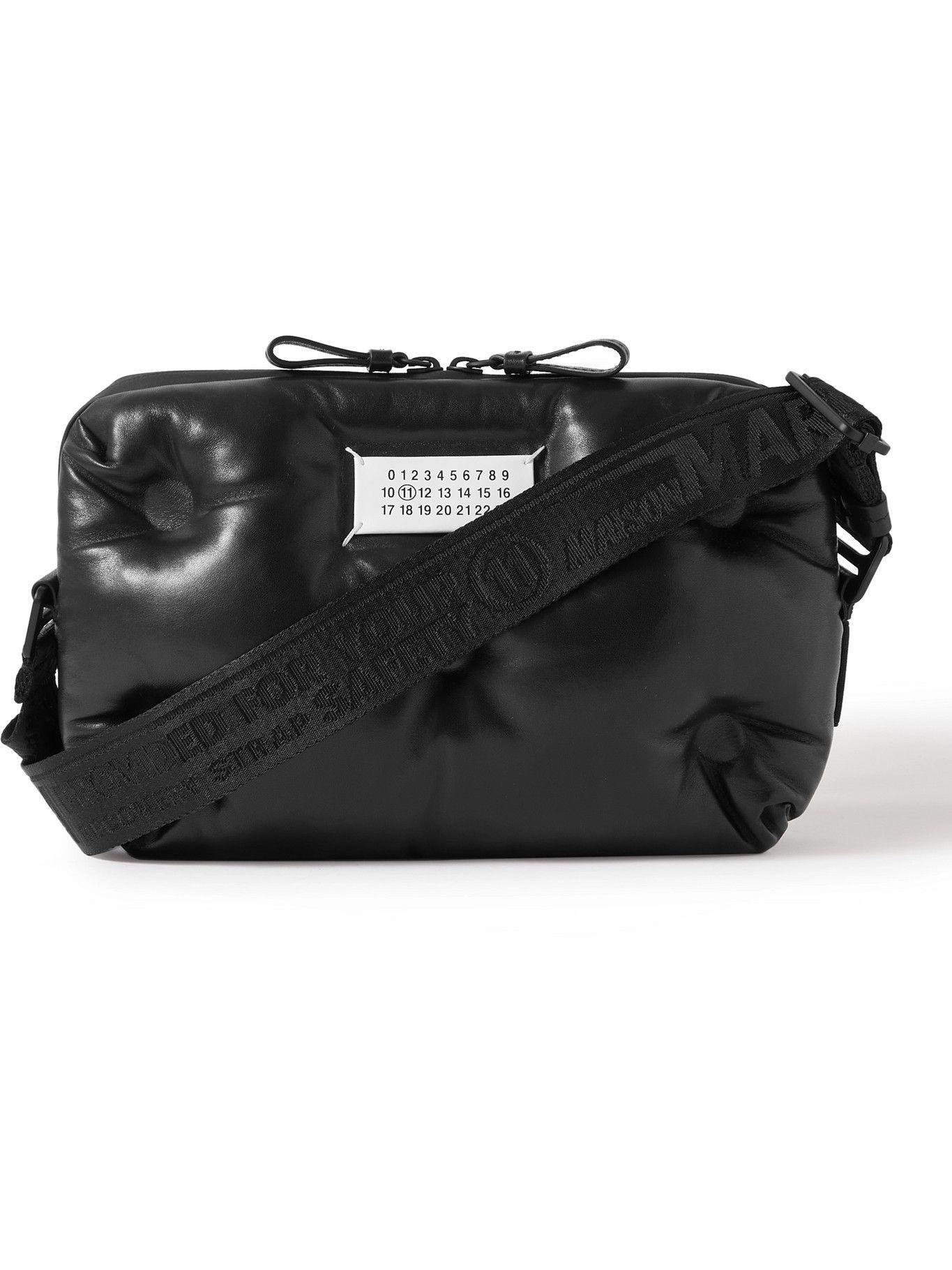 Photo: Maison Margiela - Logo-Appliquéd Padded Quilted Leather Messenger Bag