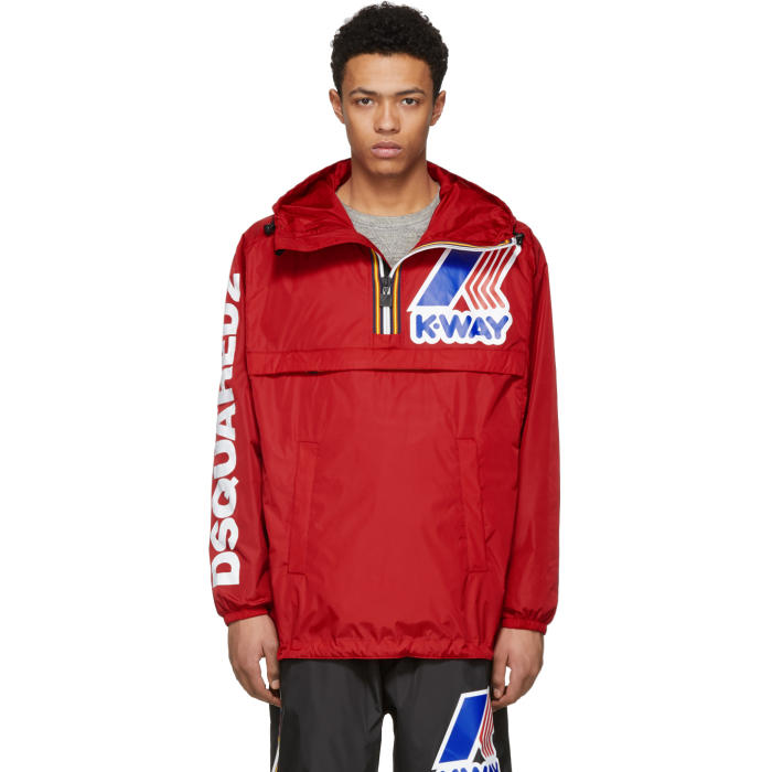 Photo: Dsquared2 Red K-Way Edition Zipped Jacket