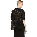 Sacai Black Chemical Floral Lace Sweater
