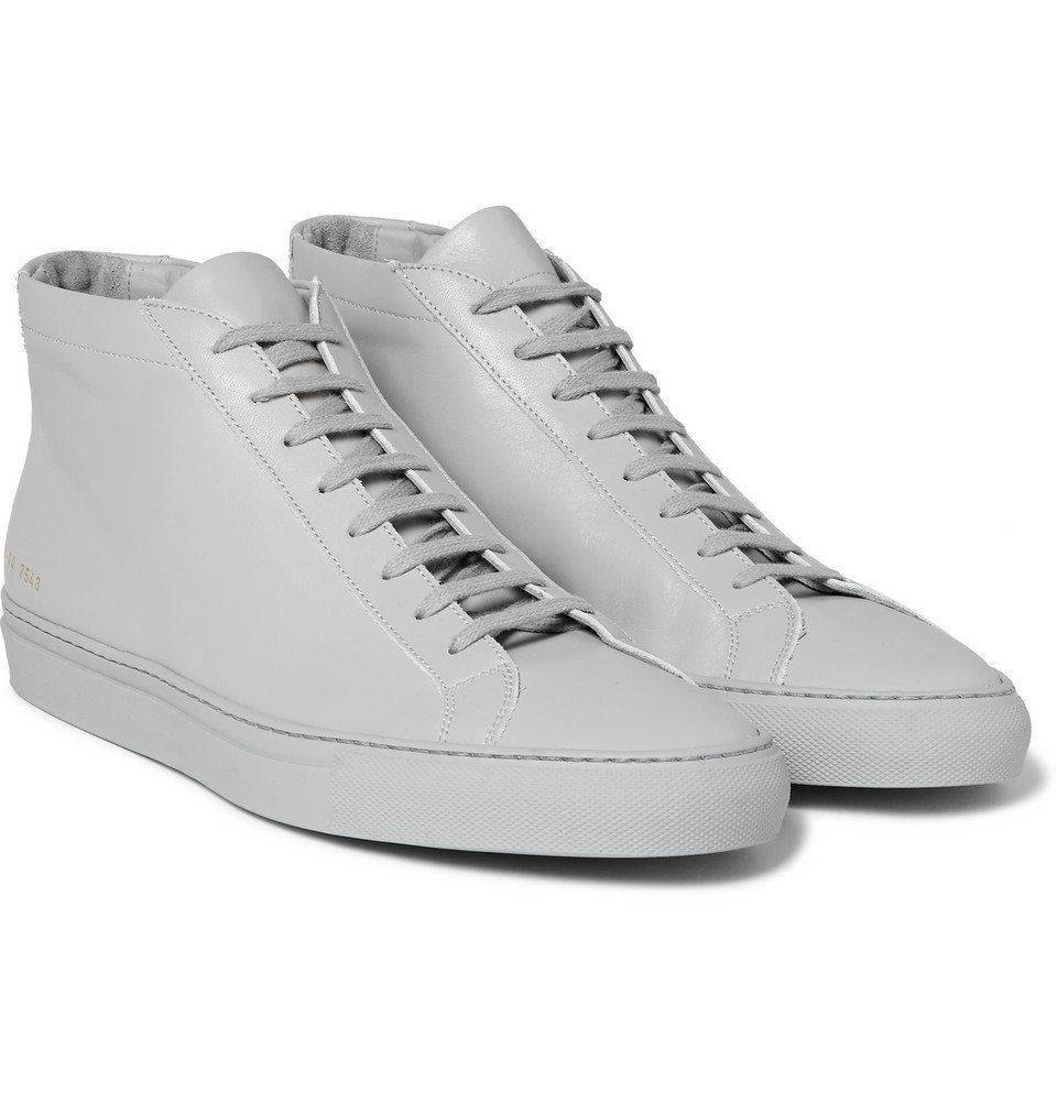 Common Projects - Original Achilles Leather High-Top Sneakers - Men - Light gray