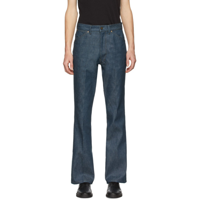 Photo: Lemaire Blue Denim Bootcut Jeans