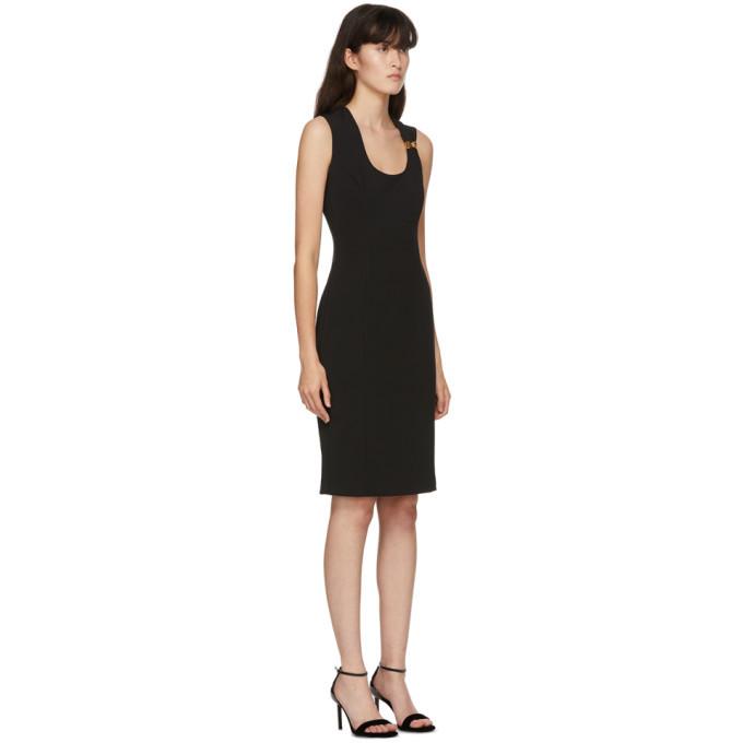 Versace Black Medusa Mid-Length Dress