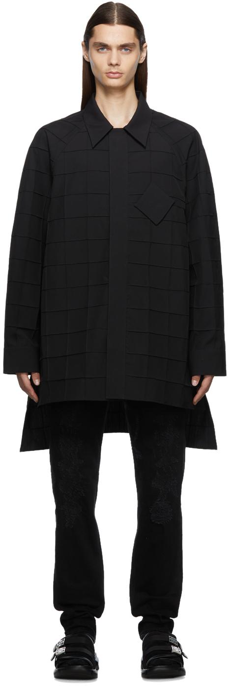 Photo: Givenchy Black Wool Check Shirt