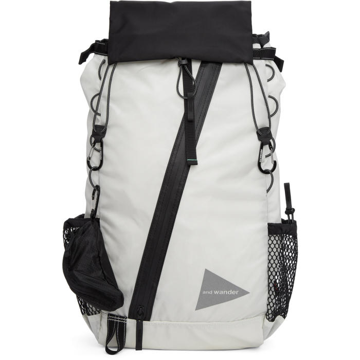 Photo: and Wander White Convertible 30L Front Pouch Backpack