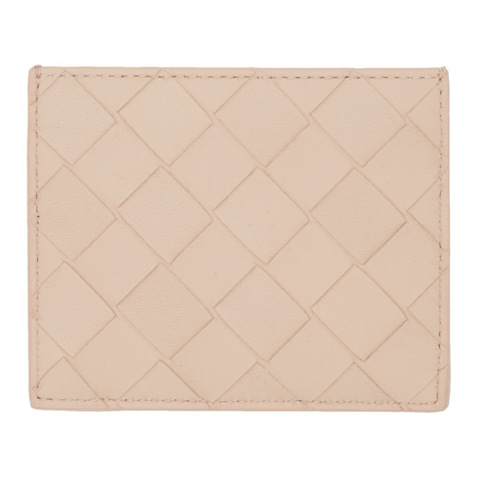 Photo: Bottega Veneta Beige Intrecciato Spazzolato Card Holder