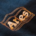 Aries - Logo-Print Tie-Dyed Cotton-Terry Sweatshirt - Men - Storm blue