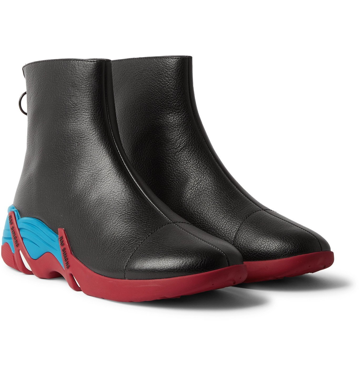 Raf Simons - Cylon Leather Chelsea Boots - Black