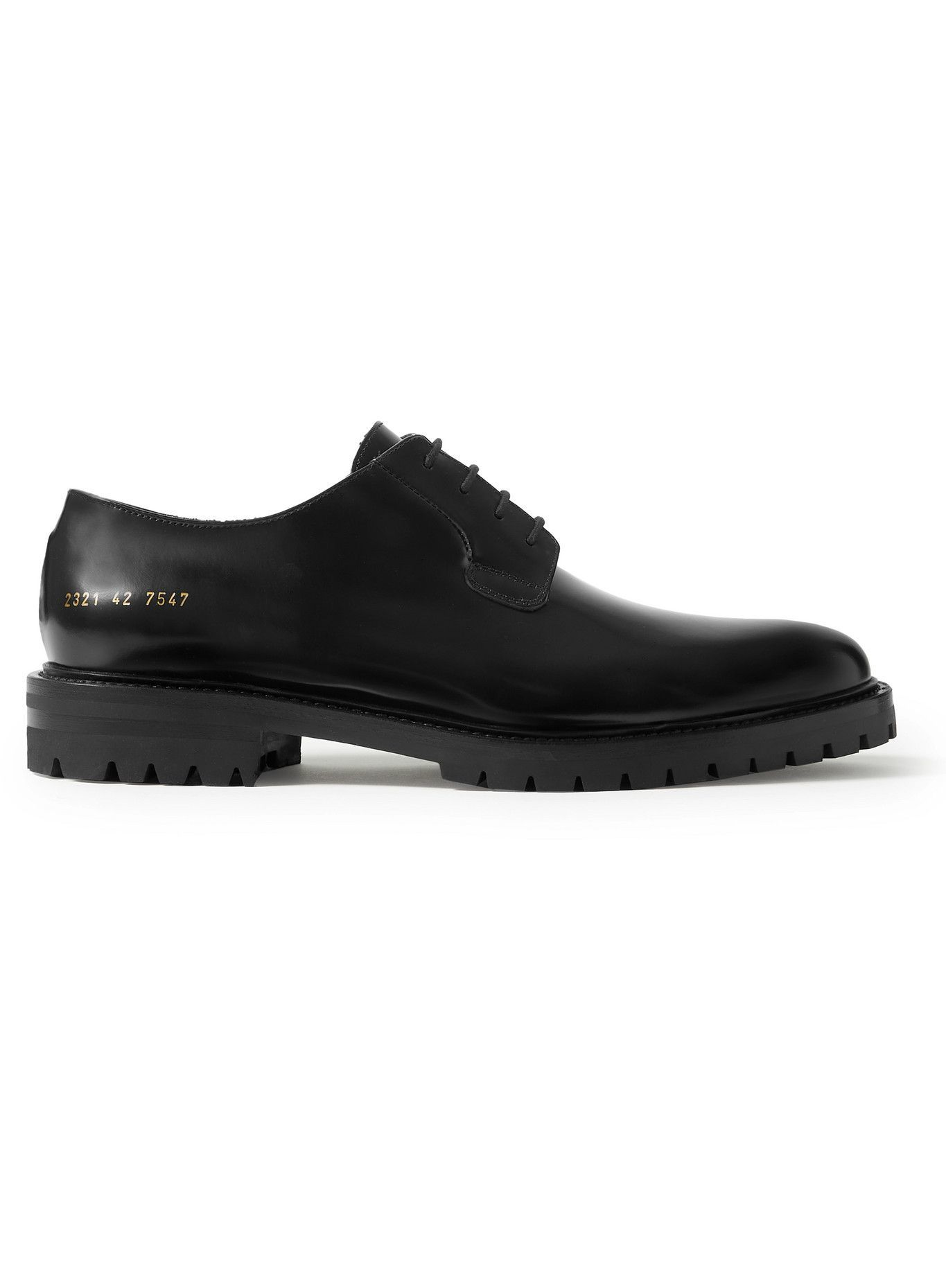 Photo: Common Projects - Leather Derby Shoes - Black