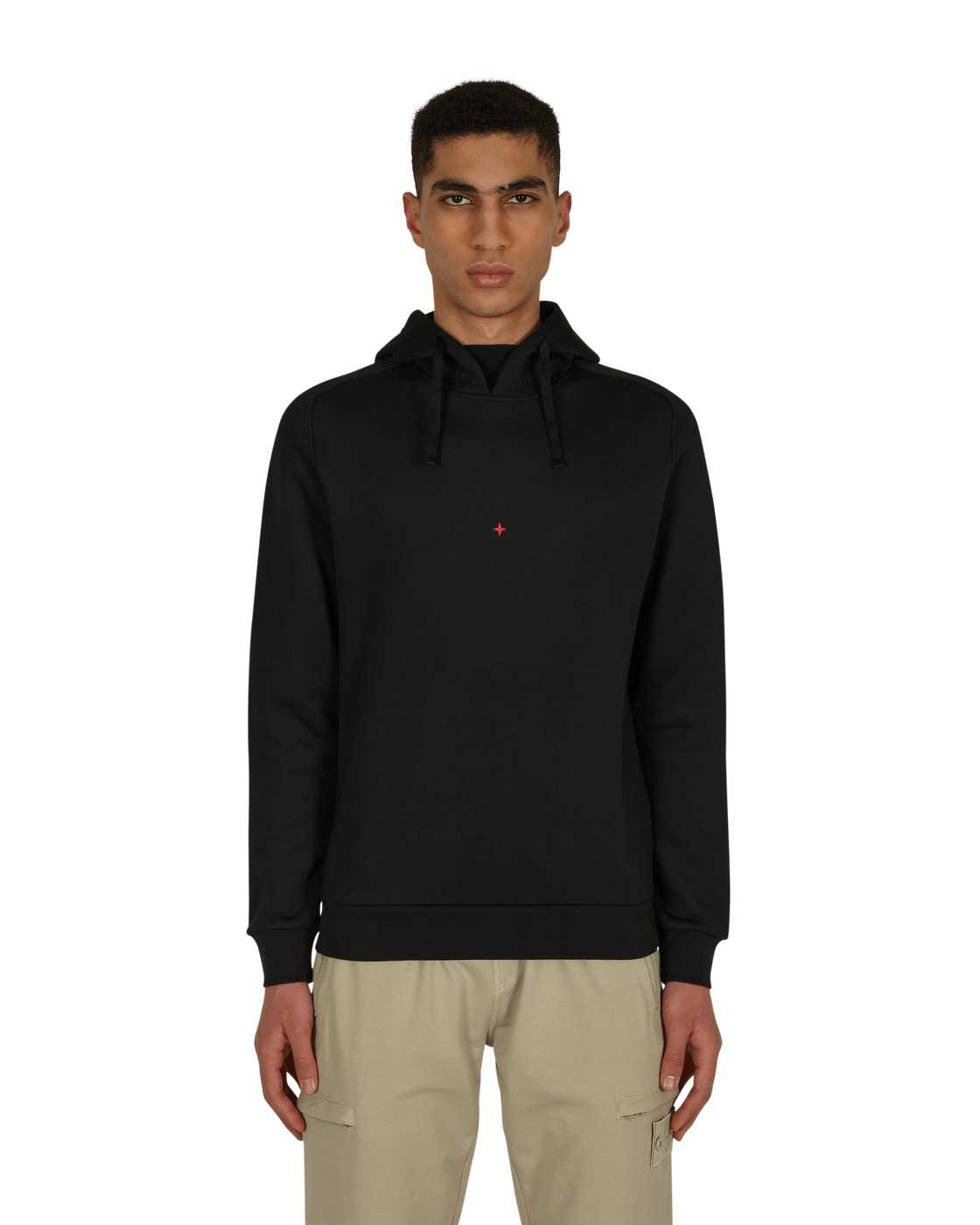 Stone Island Marina Hooded Sweatshirt Black