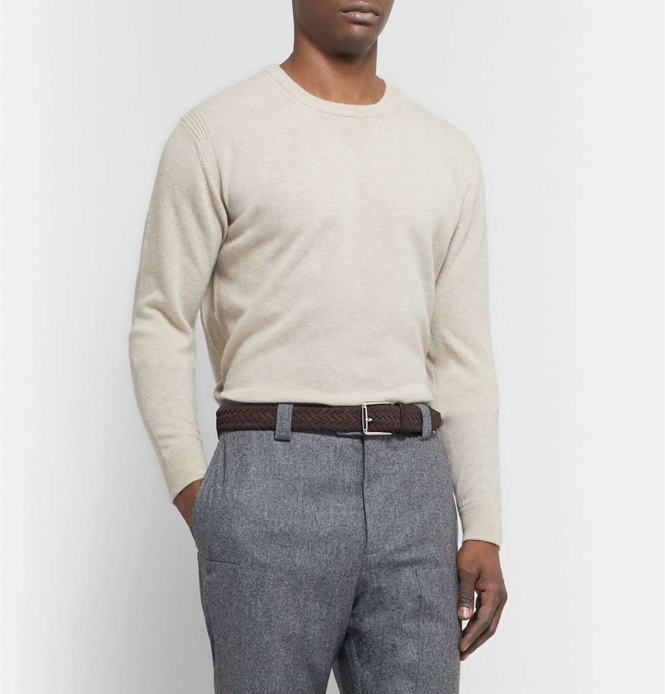 Tod's - 3.5cm Brown Woven Suede Belt - Brown