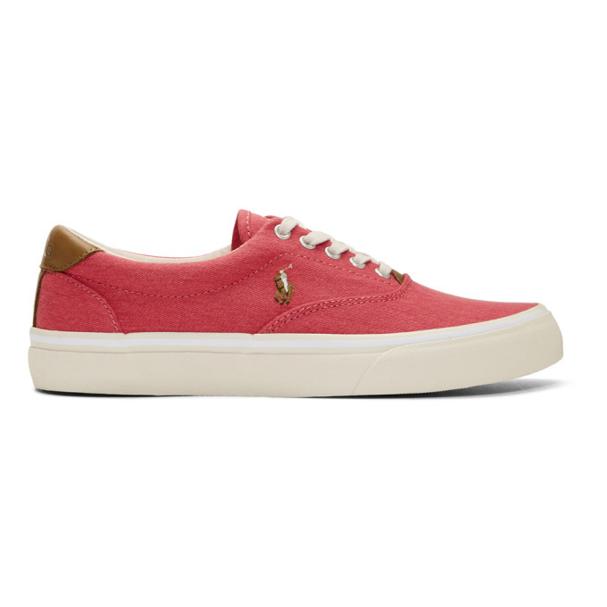 Photo: Polo Ralph Lauren Red Twill Thorton Sneakers