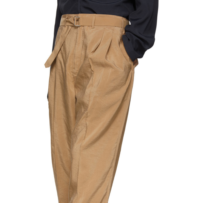 Lemaire Black Silk Pleated Trousers