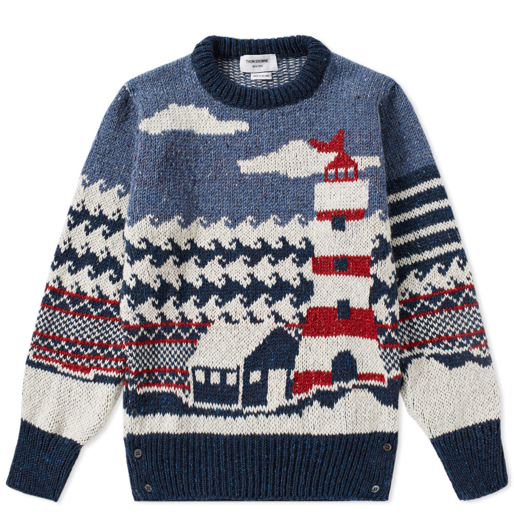 Photo: Thom Browne Mohair Lighthouse Crew Knit